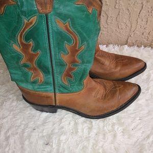 Old West Cowboy Boots SZ 7